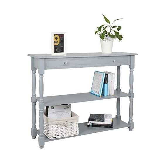 Hromee Sofa Console Table with 3 Tier Shelf Furniture for Entryway Living Room Easy Assemble -  - living-room-furniture, living-room, console-tables - 41UsiL08iML. SS570  -