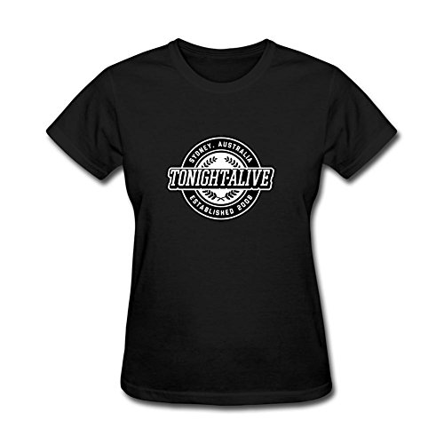 ZHENGXING Women's Tonight Alive Consider This Logo Short Sleeve T-Shirt S ColorName (Mcdougall Program For Women compare prices)
