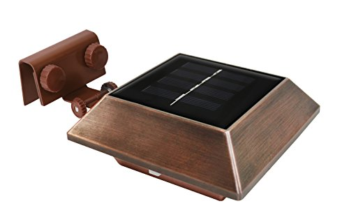 Triple Mount Solar Powered Led Lights Copper