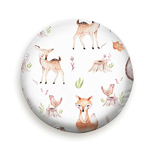 Cute Baby Fox Deer Animal Nursery Animals Woodland Spare Tire Cover Dust-Proof Universal Spare Wheel Tire Cover Fit for Trailer, RV, SUV and Many Vehicle 14