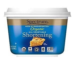 Spectrum Naturals Organic All Vegetable Shortening, 24 Ounce (Pack of 4)