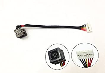 Sukvas DC Jack Power with Cable Harness for Dell Inspiron 14R 14 3000 Series 3421 3437 3442 3443 3446 5000 5421 5437 Cable Length: 10PCS