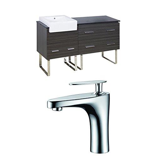 "new Jade Bath JB-10410 60"" W x 20"" D Plywood-Melamine Vanity Set with Single Hole CUPC Faucet, Dawn Grey"