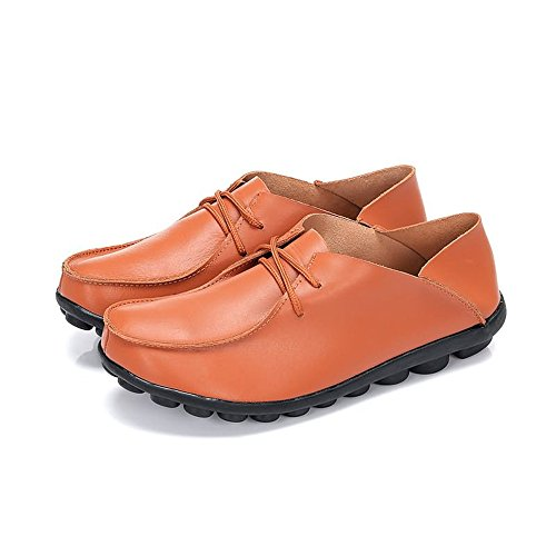 Homme Souple Chaussures À Jaune Super Cuir Plats Talons Mocassins qYAdgxArwU
