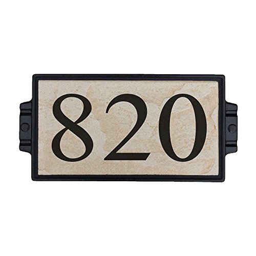 Sandy Stone Address Plaque 3 by Craftsman House Numbers