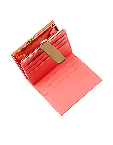 Accessorize Womens Neon Colour Block Small Wallet Size One Size Pink