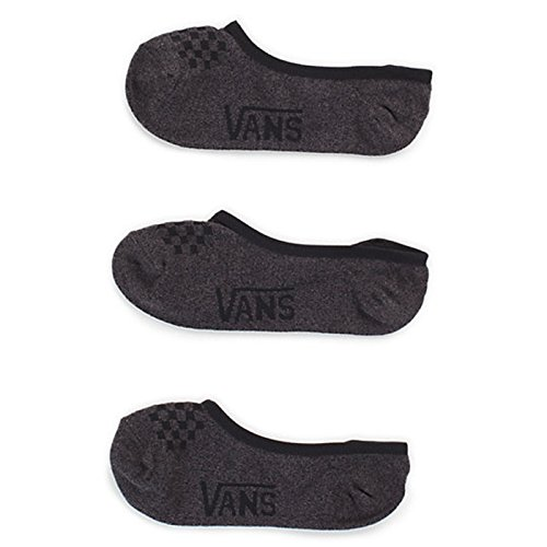 Vans Womens Girls Basic Canoodle No Show Socks (Black Heather, (Van Een Van)