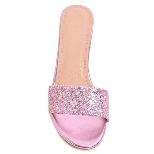 Aiguille Mode Talon Pink Mules Femmes Coolcept 7pzqII