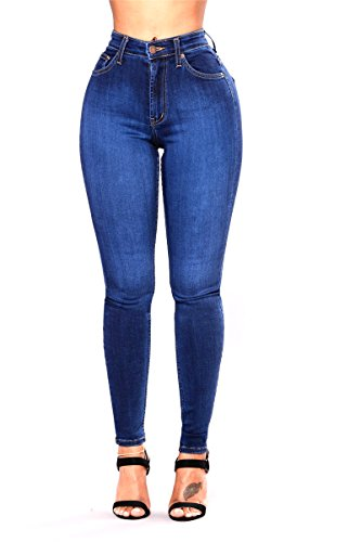 L.B FASHION High Waisted Rise Juniors Butt Lift Curvy Slim Denim Stretch Skinny Colored Jeans for Teen Girls Women Plus Size