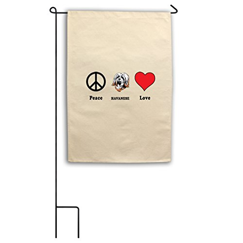 "Style in Print Canvas Yard House Garden Flag 18""X27"" Peace L"