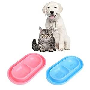 Keepart comedero Doble para Mascotas, tazones de plástico Anti ...