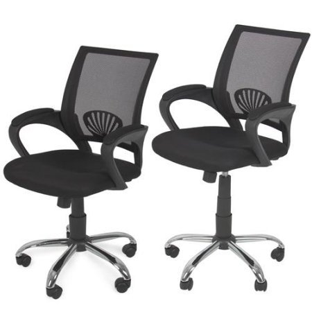 New Mesh Computer Office Desk Task Midback Task Chair w/ Sturdy Metal Base, Contemporary and Ergonomic Design, Deluxe Home and Office Furniture, Adjustable Height with Padded and Molded Armrest