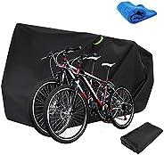 Bumlon Bike Cover 2 Bikes Outdoor Waterproof Bicycle Covers XXL 210D Oxford Fabric Rain Sun UV Dust Wind Proof