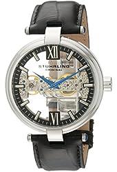 Stuhrling Original Men's 330.33151 Emperor Royal Scepter Mechanical Skeleton Black Dial Watch