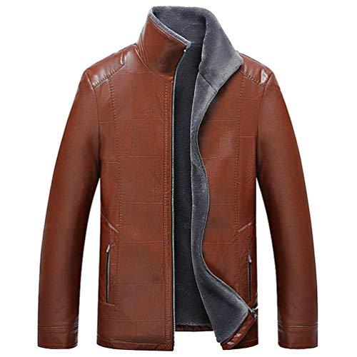Jacket Winter Coats Coat Orange Men's Huixin Classic Leather with Jacket Warm Coat Winter Fur Men's Ntel Apparel Outerwear ZwnPAq7