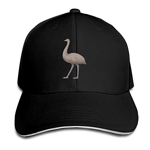 Peaked hat Australia Bird Emu Printed Sandwich Baseball Cap for Unisex Adjustable - Hat Emu