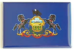 Pennsylvania State Flag Fridge Magnet (2 x 3 inches)