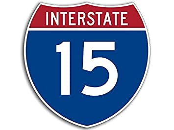 Amazon.com: Imán Interstate 15 Freeway cartel con forma ...