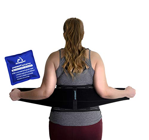 AireSupport by Dr. Hammond - Lumbar Support Back Brace with Reusable Ice/Hot Hot/Cold Pack and Removable Lumbar Pad and Back Brace - Soft Lumbar Back Brace - Lower Back Brace XXL/XXXL