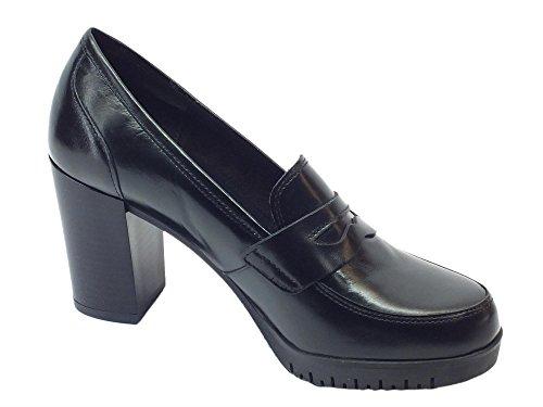Ag 7135 Gaucho Nero, Damen Mokassins, Schwarz - schwarz - Größe: 35 Mercante di Fiori