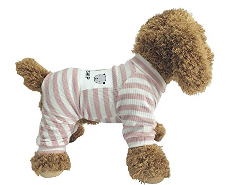 EastCities Dog Clothes for Small Dogs Puppy Pajamas Outfit,Pink M