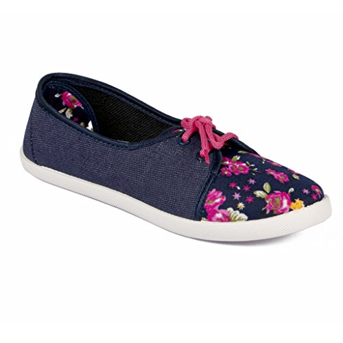8ed496f93174f Asian shoes LR-82 Navy Blue Pink Canvas Women Shoes 6UK Indian  Buy Online  at Low Prices in India - Amazon.in