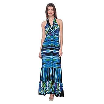 Cocum Halter Dress For Women Size 8 Uk, Multi Color