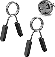 MoKo Barbell Clip Set, 4PCS (25mm / 28mm / 30mm) / 2PCS 50mm Steel Exercise Collars Barbell Clip Clamps Spring