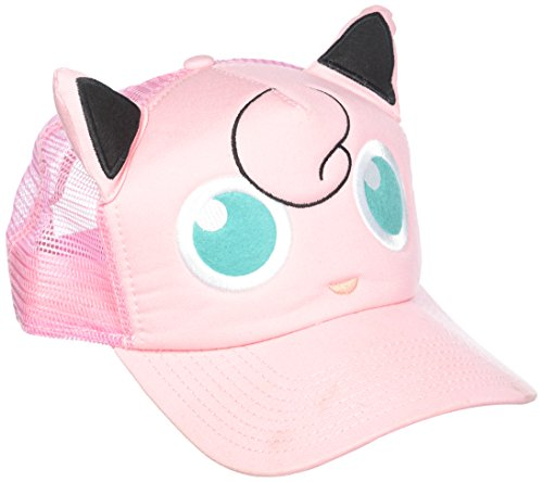 Pokemon Ash Costume X And Y (BIOWORLD Pokémon Jigglypuff Big Face Trucker Snapback Hat)