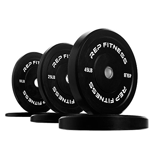 Rep Bumper Plates for Strength and Conditioning Workouts and Weightlifting