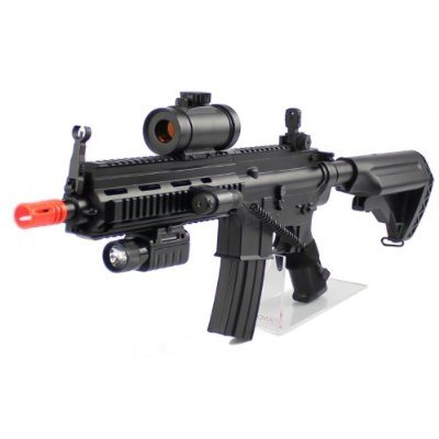 Velocity Airsoft 2012 Red Dot Version 614 with Flashlight/Laser & Red Dot Scope, Black by Velocity Airsoft