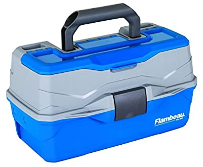 Flambeau Outdoors 6382 Classic 2-Tray Tackle Box, Blue/Gray