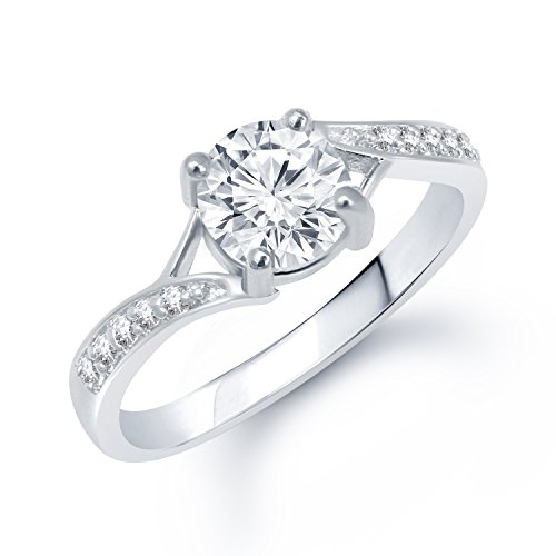 Vk Brass Ring For Women – Silver(Vkfr1055R10)