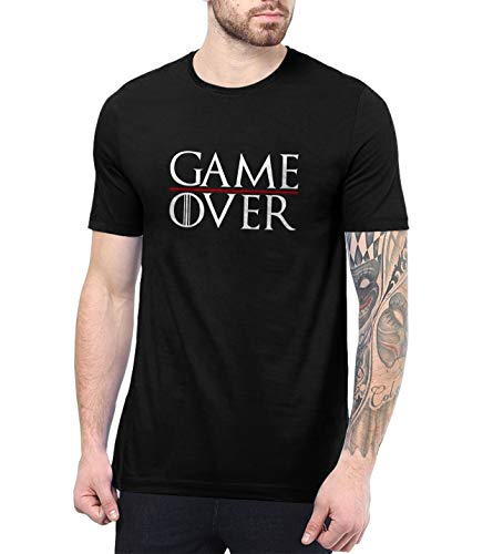 - Mens Black Gaming Game Over T Shirt - Thrones Shirt | Game Over, S