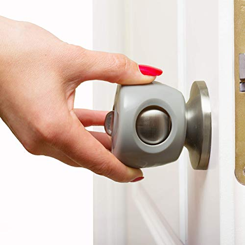 Safety Door Knob Covers | 4 Pack | Baby Proof Doors and Protect Children