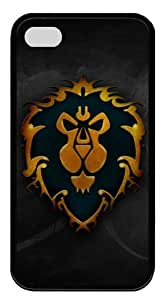 World of Warcraft Alliance Iphone4/4S Black Sides Rubber Shell TPU Case by eeMuse