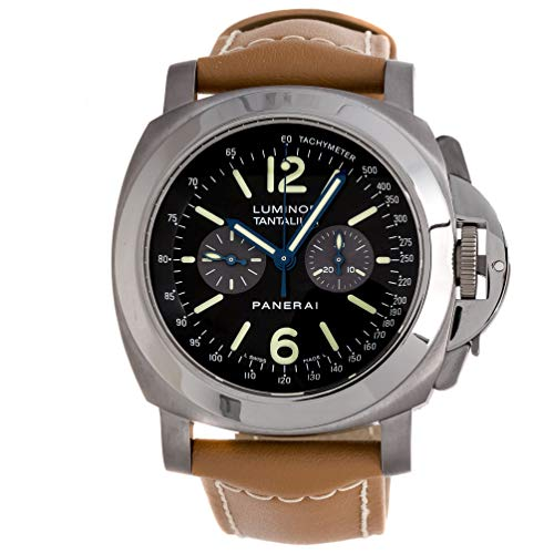 Panerai Tantalum Luminor Chronograph Manual 44mm Mens Watch Strap PAM 192 (Certified Pre-Owned) (Watch Gents Tachymeter Chronograph)