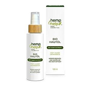 100ml Organic Hemp Oil Skincare – Jojoba and Almond Body, Face and Hair Oil with Hemp Extract Pure, Natural, Cruelty Free, Vegan, No GMO