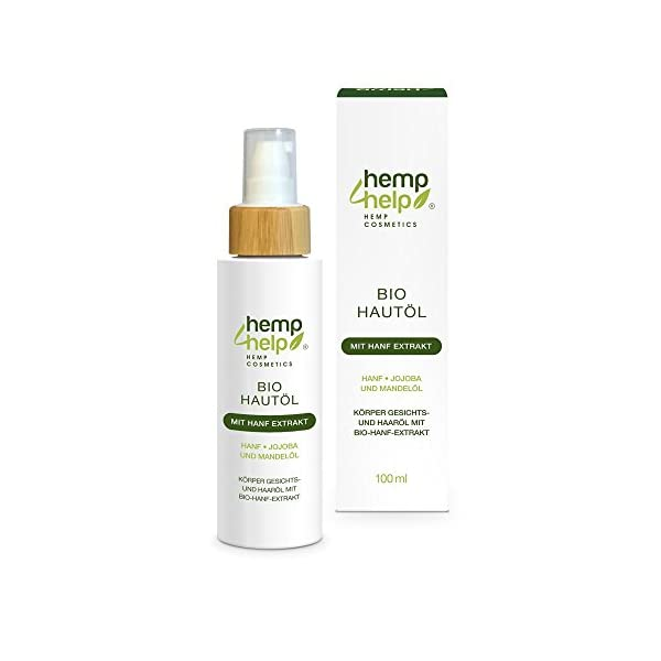 Organic Hemp Oil Skincare – Jojoba and Almond Body, Face and Hair Oil with Hemp Extract Pure, Natural, Cruelty Free, Vegan, No GMO