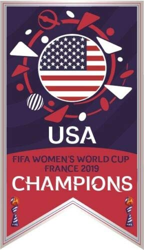 (Limited Edition 2019 FIFA Women's World Cup USA Champions Banner Soccer PIN Rapinoe MORGANDUNN PRE Order Item - Shipping BEGINDS July 24TH)