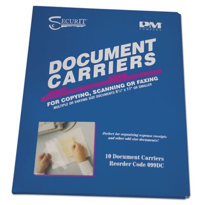Accufax Fax Document Carriers, Reusable, 8-1/2