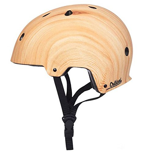 Critical Cycles Classic Commuter Bike/Skate/Multi-Sport CM-2 Helmet with 11 Vents, Matte Wood Grain, Large: 59-63cm/23.25