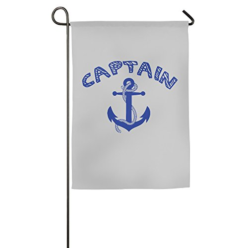 LINNA Custom Captain With Ships Anchor Summer Patio Garden Flag - Michael For Him Kors