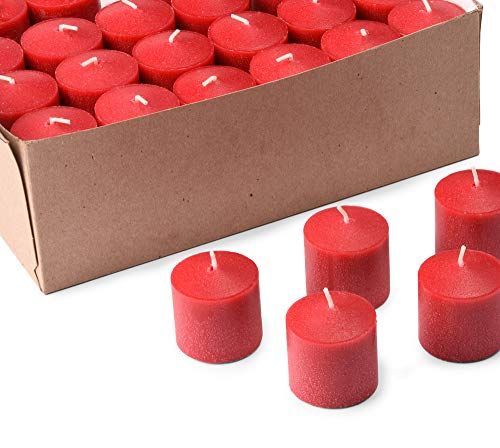 Votive Candles Wedding 10 Hour Votives Made in The USA HIGLOW (72, Red)]()