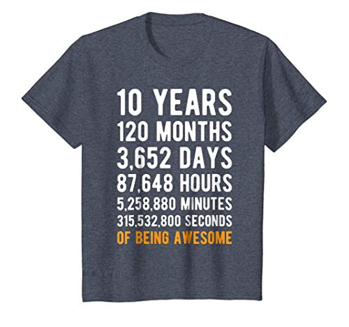 Kids 10th Birthday Gift T Shirt 10 Years Old Being