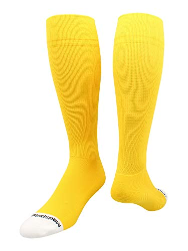 - MadSportsStuff Pro Line Over The Calf Baseball Socks (Gold, Small)