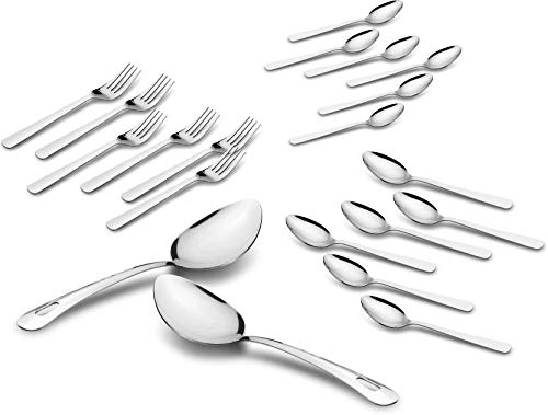 Classic Essentials Stainless Steel Cutlery Set, Include Dinner Spoon/Baby Spoon/Fork/Serving Spoon.Mirror Polished, and Dishwasher Safe Stainless Steel Cutlery Set (Pack of 20) Price & Reviews