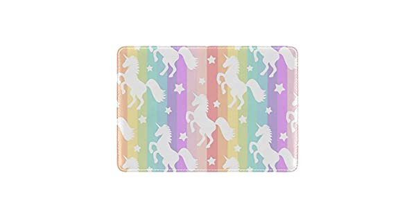 Amazon.com: Cooper niña Rainbow Stripe Unicorn funda para ...