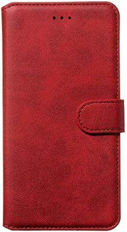 Lomogo Xiaomi Mi Note 10 / Note10 Pro ケース 手帳型 耐衝撃 レザーケース 財布型 カードポケット スタンド機能 マグネット式 Xiaomi Note 10 手帳型ケース カバー 人気 - LOYYO080935 赤