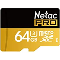 Netac 64GB Micro SD Card UHS I U3 Pro High Speed SDXC with Adapter